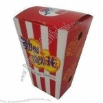 Disposable Snack Box in Flexible Design, Made of Paper with Offset Printing