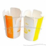 Disposable Snack Boxes in Flexible Design, Made of Paper with Offset Printing