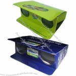 Disposal Foldable Glossy Cardboard / Paper Binoculars for Sports Games