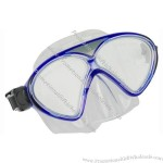 Diving Mask Made of Tempered Glass Lens and PVC/ Silicone Shirt and Strap