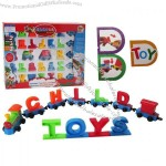 DIY Building Blocks Letter Train Educational Toy
