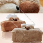 Dog Plush Car Tissue Box Cover Holder