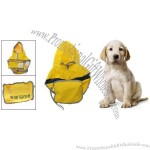 Dog Puppy Clothes Yellow Reflective Fire Fighter Raincoat Rain Coat