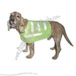 Dog safety vest made of polyester and knitted fabric and highly