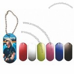 Dog Tag Wooden Handle Iron rings Jump Rope