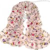 Doodle Letter Heart Pattern Chiffion Silk Scarf