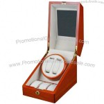 Double Automatic Wood Watch Winder 3 storages with lock