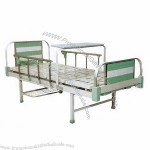 Double Crank Bed, Made Of Aluminum Alloy Head And Footboard, Turning Table, Shoes Holder