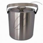 Double Layered 1.3L Stainless Steel Ice Bucket
