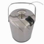 Double Layered Stainless Steel Ice Bucket