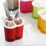 Double Plastic Drain Chopstick Pot