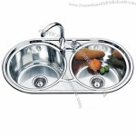 Double Round Shaped Kitchen Sinks