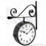 "Double-Sided 9"" Wall Clock"