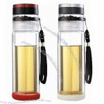 Double Wall Glass Water Bottle With Filter