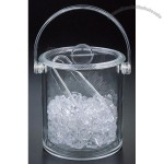 Double Wall Ice Bucket with tongs