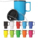 Double Walled Plastic Thermo Travel Mugs