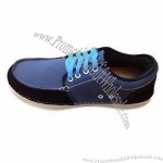 Dress shoes canvas upper, velvet lining and MD outsole