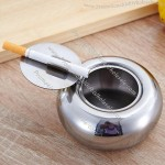 Drum Stainless Steel Ashtray with Lid