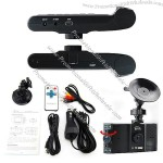 Dual Lens Auto DVR Camera with 2.7inch high-definition TFT display