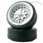 Dual Tires Desktop Clock