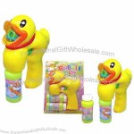 Duck Shaped Auto Bubble Gun with Music and Lights