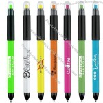 Duo Pen Polished Plastic Multifunction Ballpen & Highlighter