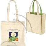 "Eco Choice - Organic 8 oz. tote with 26"" shoulder straps, natural"