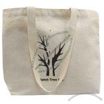 Eco-friendly 100% Organic Cotton Tote Bag With Cotton Webbed Handles