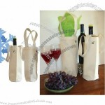 ECOBAGS Canvas Wine Bag 100% Recycled Cotton