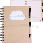 EcoShapes Recycled Die Cut Notebook - Cloud