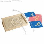 Educational Sandpaper Letter Tracing Tray