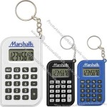 Eight digit calculator key chain