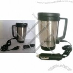 Electric Heated Travel Mug with Car and USB Plug