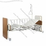 Electric Hospital Bed with Adjustable Side Rails, Brake and Lifting Pole