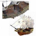 Electric RC Pirate Ship/Boat, Remote Control, Forward, Backward, Turn Left, Turn Right