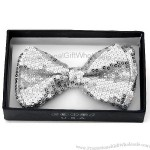 Elegant Hipster Party New Rockabilly Punk Emo Silver Sequin Bow Tie