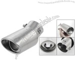 Ellipse Shape Outlet Silver Tone Exhaust Tip Muffler for Car