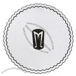 Embossed Cellulose Coaster W/ 6 Ply & Wax Back / 3 3/8""