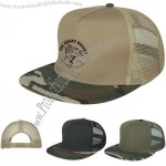 Embroidered Camo Flatbill Cap