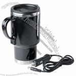 Emerson 14 oz. Stainless Steel Heated Auto Mug with 12V Car Power Adapter