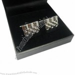 Enamel/blank cufflinks with gift box, 3D logo with free nickel-plated
