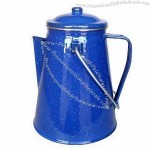 Enamel Coffee Pot with Percolator