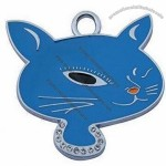 Enamel pet ID tag for cats