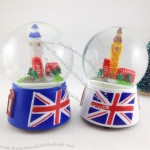 England Crystal Ball Music Box
