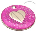 Engraved Dog ID Tag - Glitter Heart