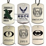 Etched Dog Tags - Stainless Steel Base