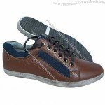 EU 40 to 46# Men's Casual Shoes with PU Upper, Rubber Sole