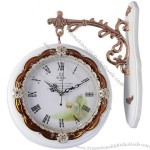 European Pastoral Decoration Double-Side Clock