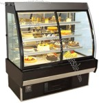 European Style Curved Display Cake Refrigerator Showcase