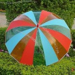 EVA Rainbow Golf Umbrella with Steel Shaft and Ribs